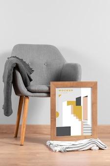 Maquette de cadre de design d'intérieur