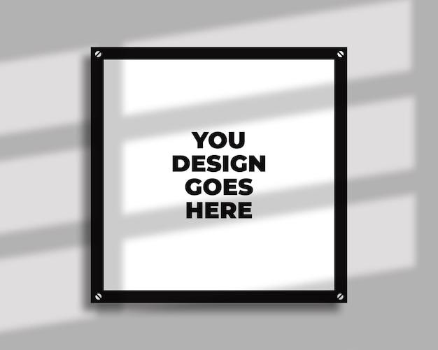 Maquette de cadre avec design d'ombre