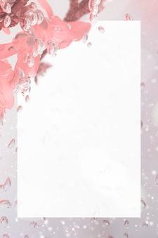 Maquette de cadre de fleur de forsythia naturel rectangle