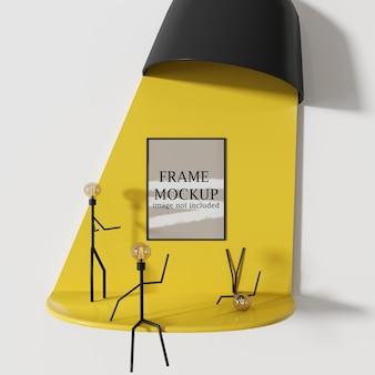 Maquette De Cadre Avec Des Gens Comme Des Personnages PSD Premium
