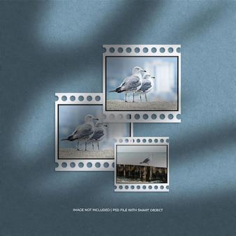 Maquette de cadre de papier de film classique de paysage