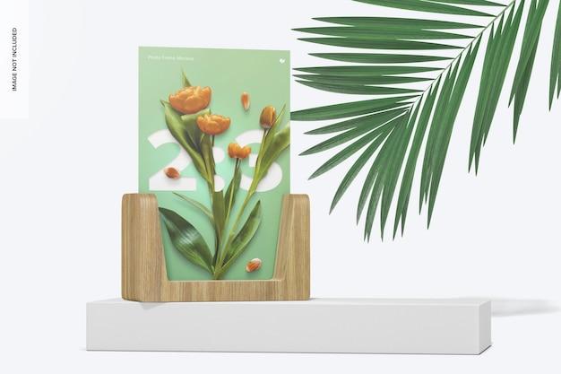 Maquette de cadre photo 2:3, perspective