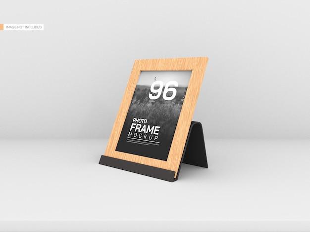 Maquette de cadre photo en bois