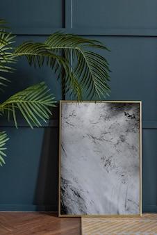 Maquette de cadre photo contre un mur