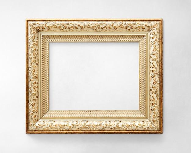 Maquette cadre photo doré