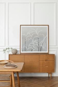Maquette de cadre photo minimal avec un design scandinave