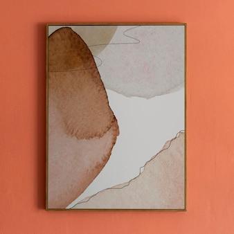 Maquette de cadre photo minimal psd avec accrocher sur un mur
