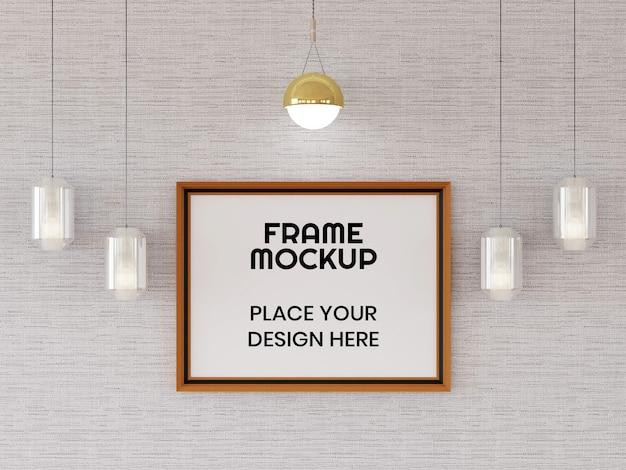 Maquette de cadre photo sur le mur