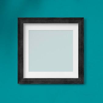 Maquette de cadre photo noir