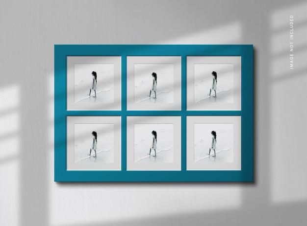 Maquette de cadre photo avec une ombre élégante