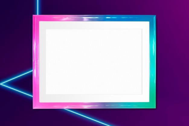 Maquette de cadre photo ombre