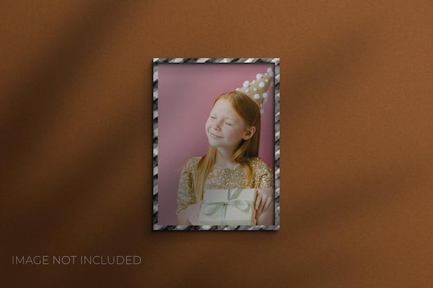 Maquette de cadre photo en papier de noël psd premium
