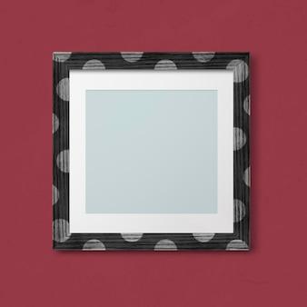 Maquette de cadre photo à pois
