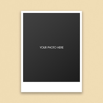 Maquette de cadre photo polaroid