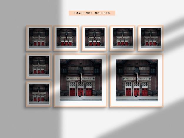 Maquette de cadre photo réaliste avec ombre