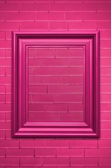 Maquette de cadre photo rose