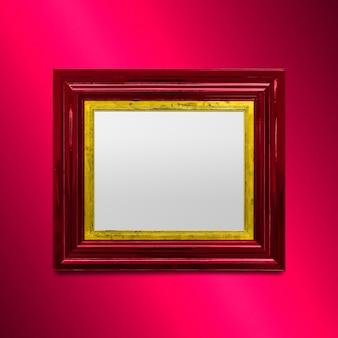 Maquette de cadre photo rouge