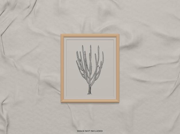 Maquette de cadre photo sur tissu