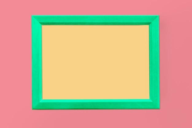Maquette de cadre photo vert