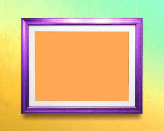 Maquette de cadre photo violet
