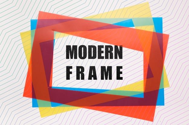 Maquette de cadres modernes colorés