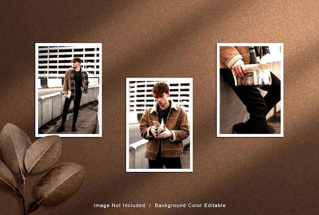 Maquette de cadres photo modernes
