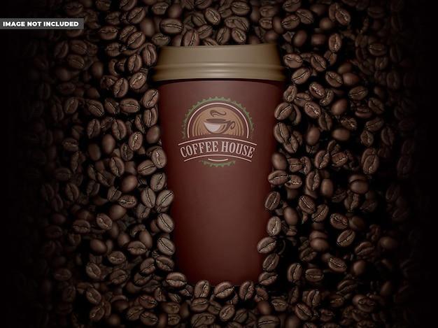 Maquette de café de tasse