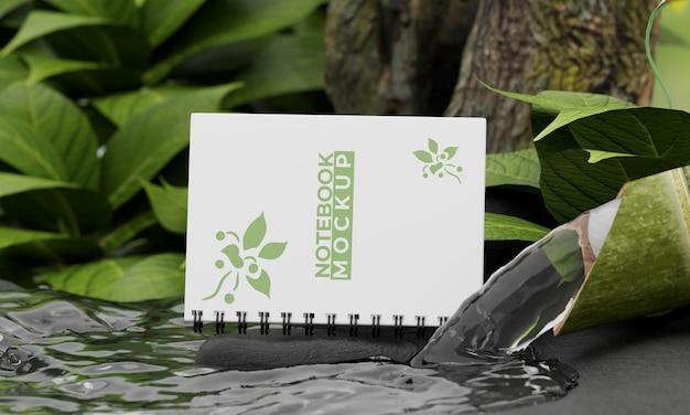 Maquette de cahier avec concept nature