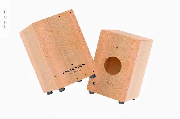 Maquette de cajons à percussion, flottant