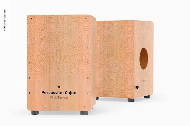 Maquette de cajons à percussion
