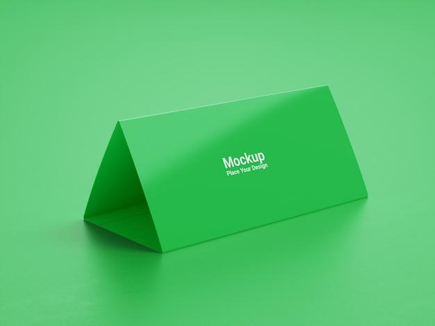Maquette de calendrier de bureau sur fond vert