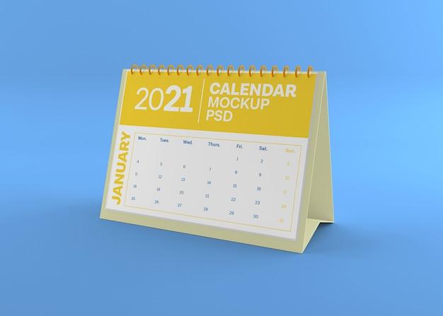 Maquette de calendrier de bureau horizontal isolé