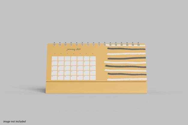 Maquette de calendrier de bureau horizontal minimal