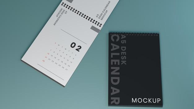 Maquette de calendrier de bureau minimaliste