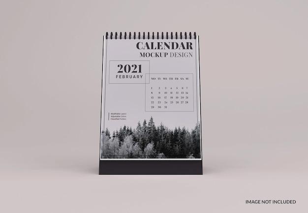 Maquette de calendrier de bureau moderne