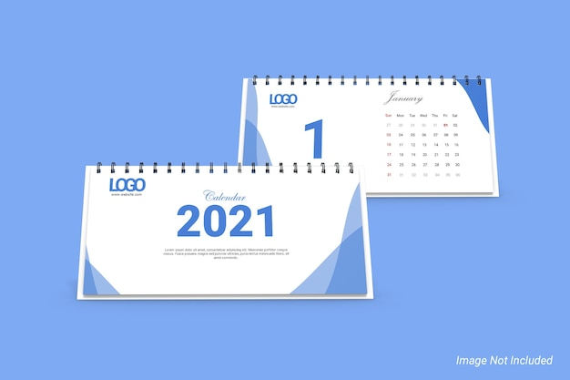 Maquette de calendrier de bureau de paysage