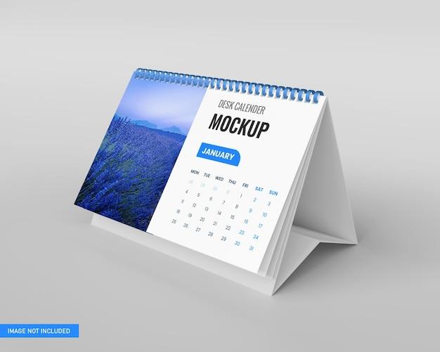 Maquette de calendrier de bureau en rendu 3d