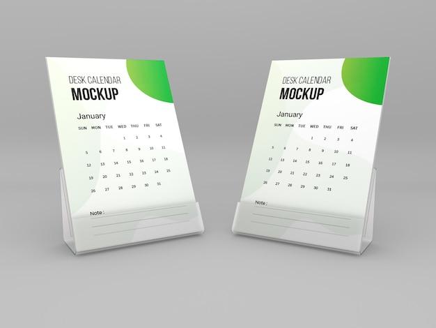 Maquette de calendrier de bureau
