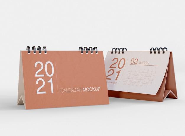 Maquette de calendrier horizontal
