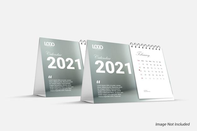 Maquette de calendrier minimaliste moderne isolée