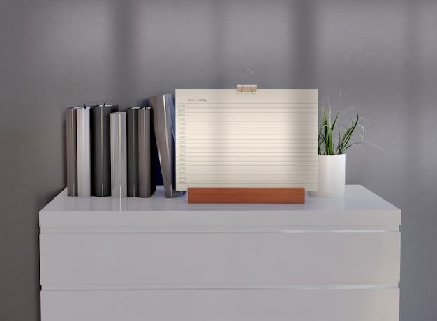 Maquette de calendrier minimaliste