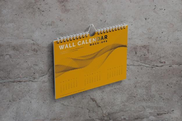 Maquette de calendrier mural horizontal