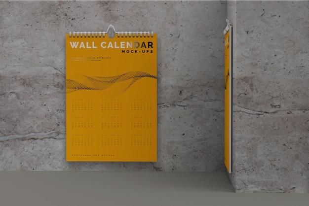 Maquette de calendrier mural vertical