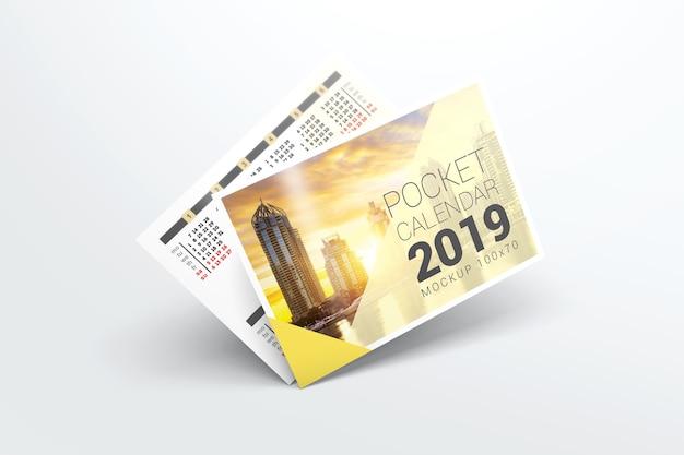 Maquette de calendrier de poche 2019