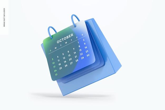 Maquette de calendrier de table, chute