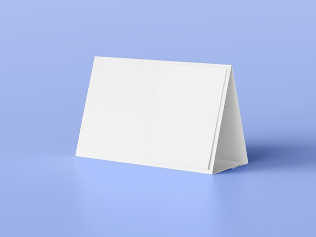 Maquette de calendrier de tente de bureau blanc