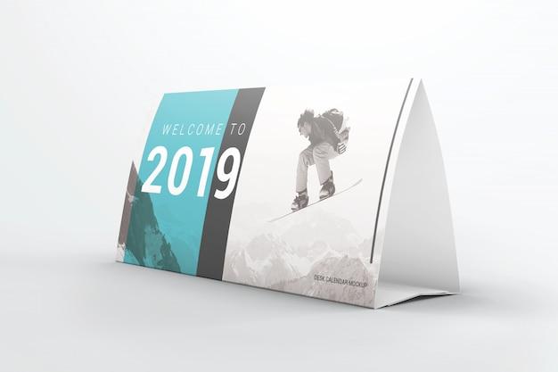 Maquette de calendrier de tente de table