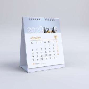 Maquette de calendrier vertical