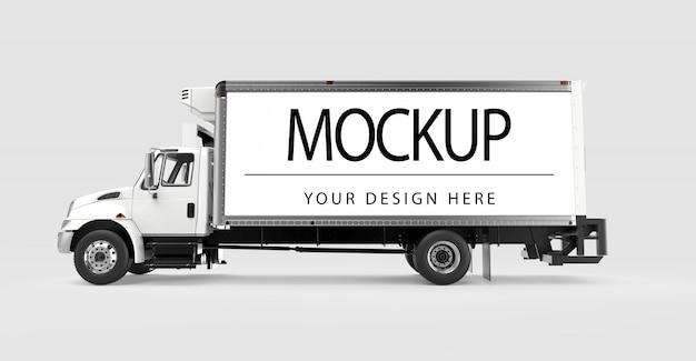 Maquette d'un camion isolé