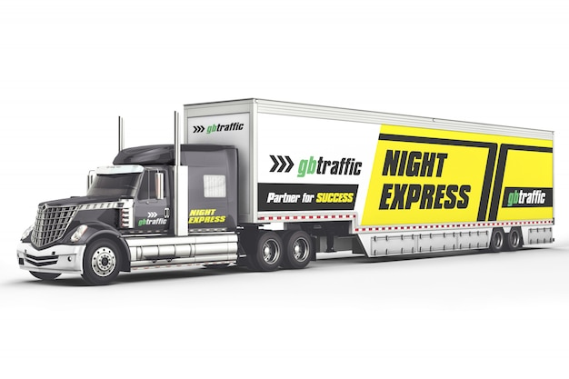 Maquette de camion de marque